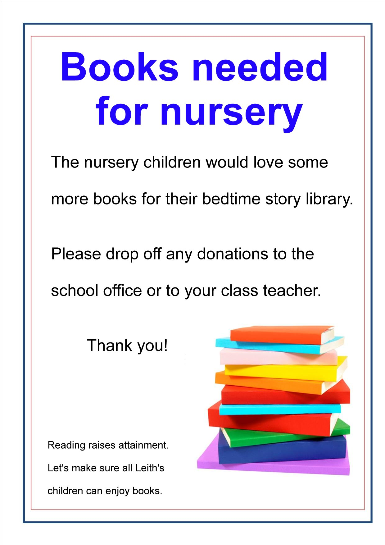 Nursery books poster